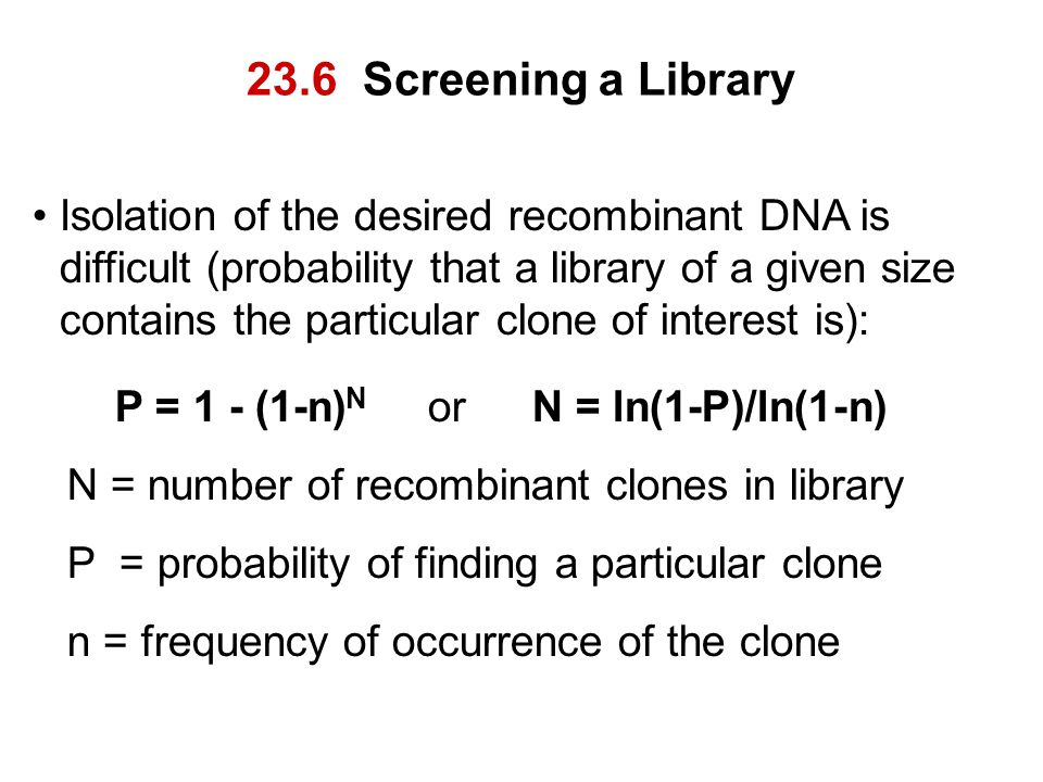 23.6 Screening a Library
