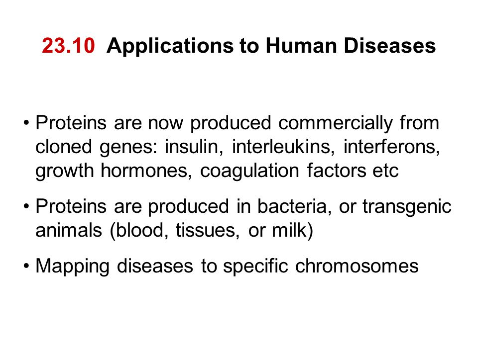 23.10 Applications to Human Diseases