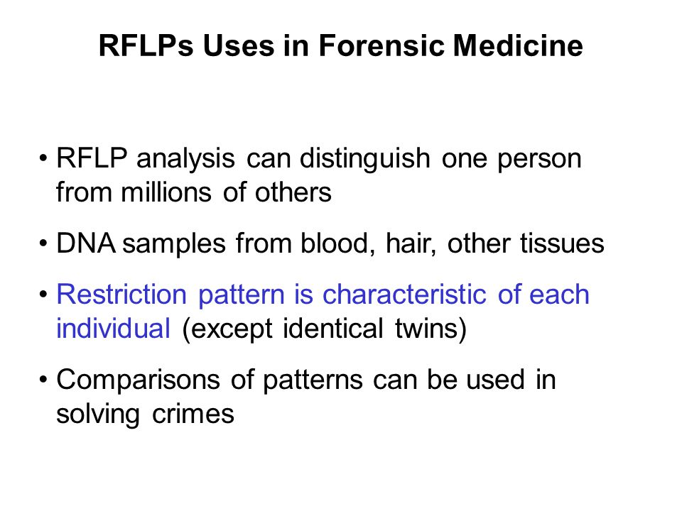 RFLPs Uses in Forensic Medicine
