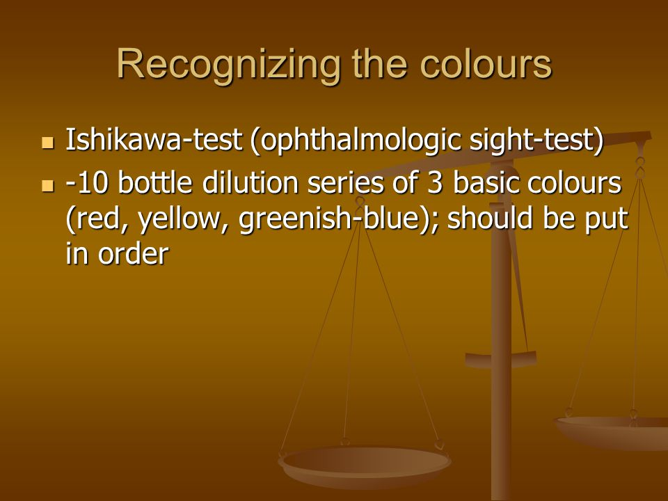 Recognizing the colours