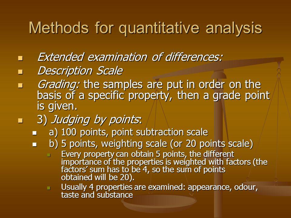 Methods for quantitative analysis
