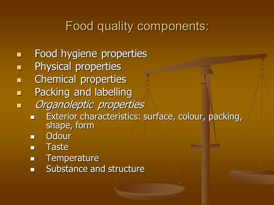 Food quality components: