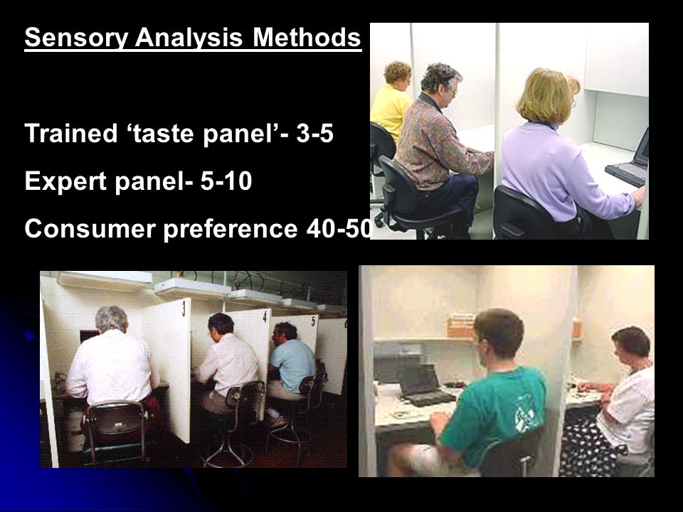 Sensory Analysis Methods