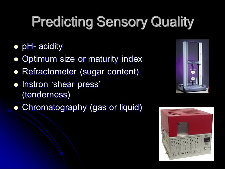 Predicting Sensory Quality