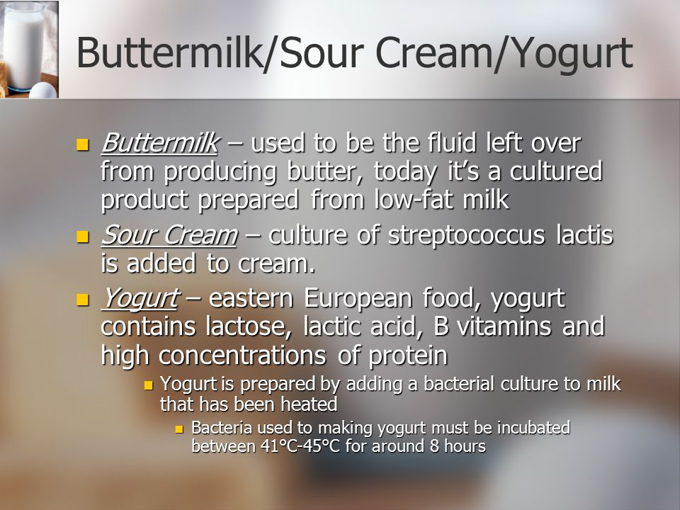 Buttermilk/Sour Cream/Yogurt
