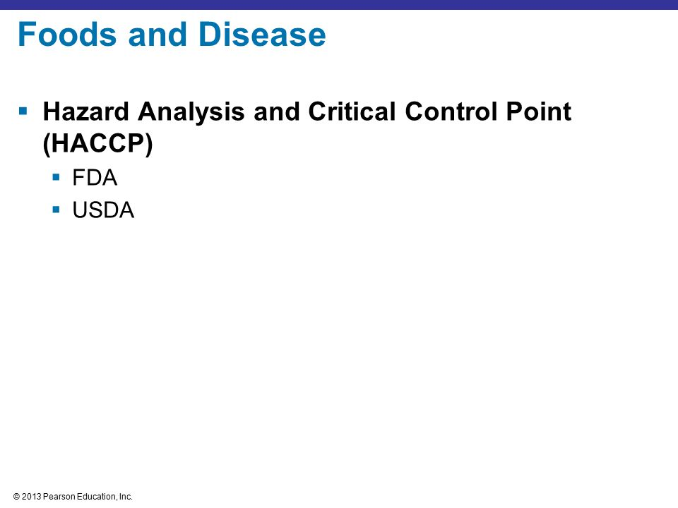 Foods and Disease Hazard Analysis and Critical Control Point (HACCP)