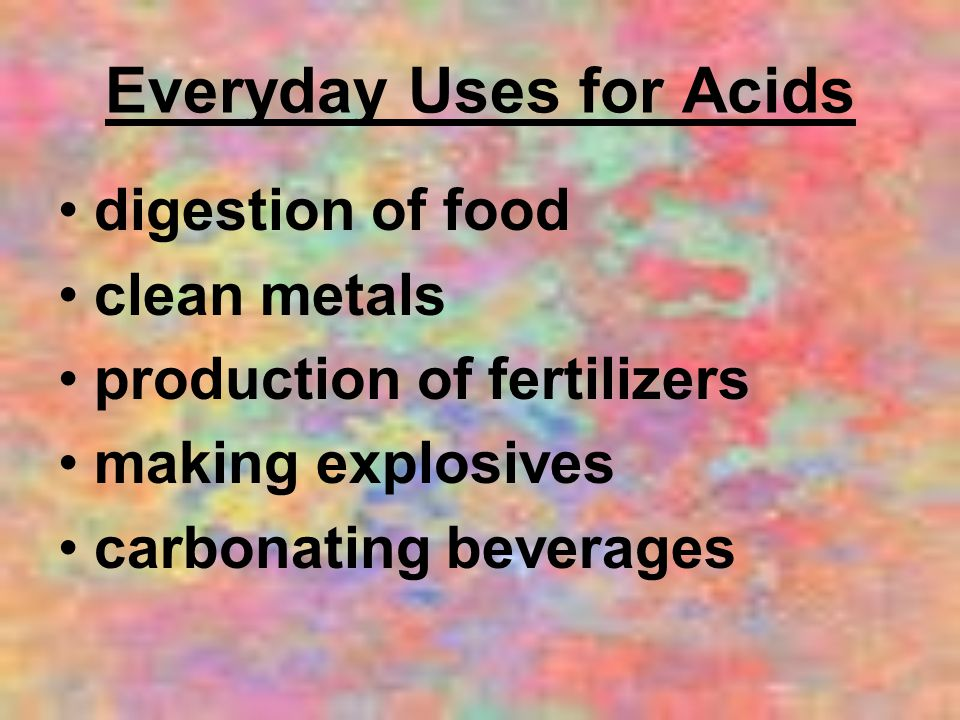 Everyday Uses for Acids