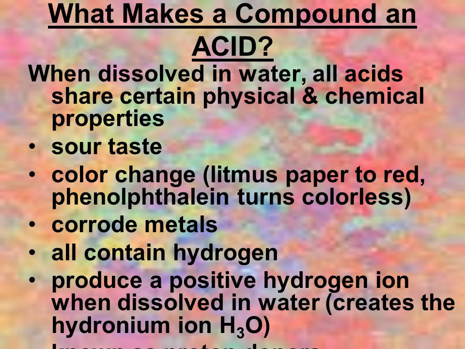 What Makes a Compound an ACID