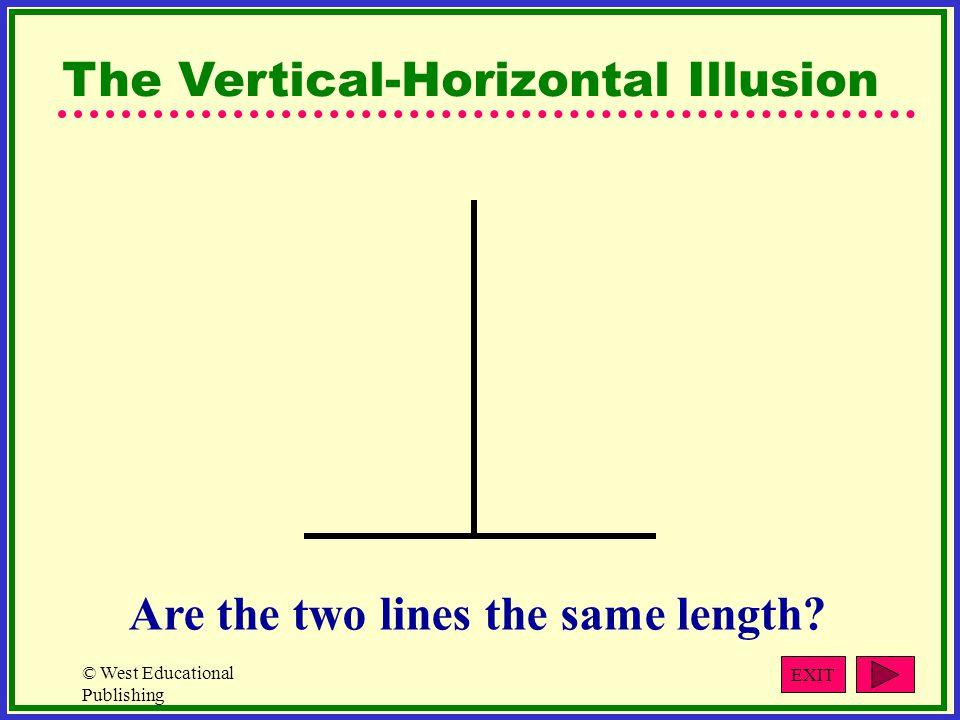 The Vertical-Horizontal Illusion