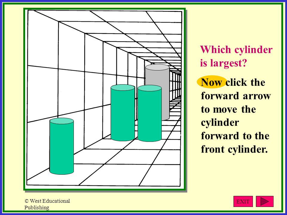 Which cylinder is largest