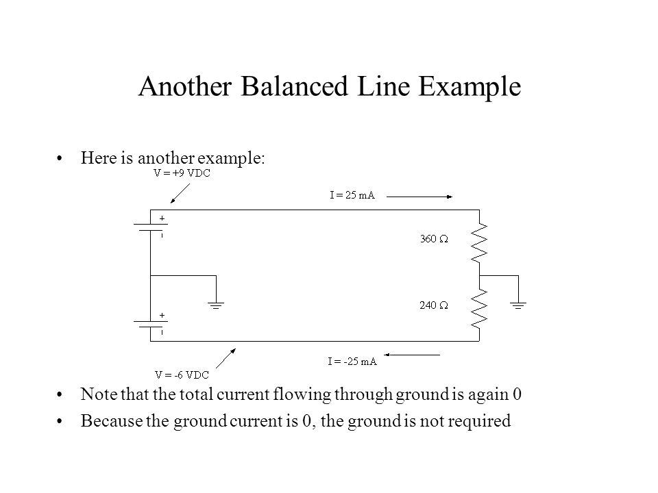 Another Balanced Line Example