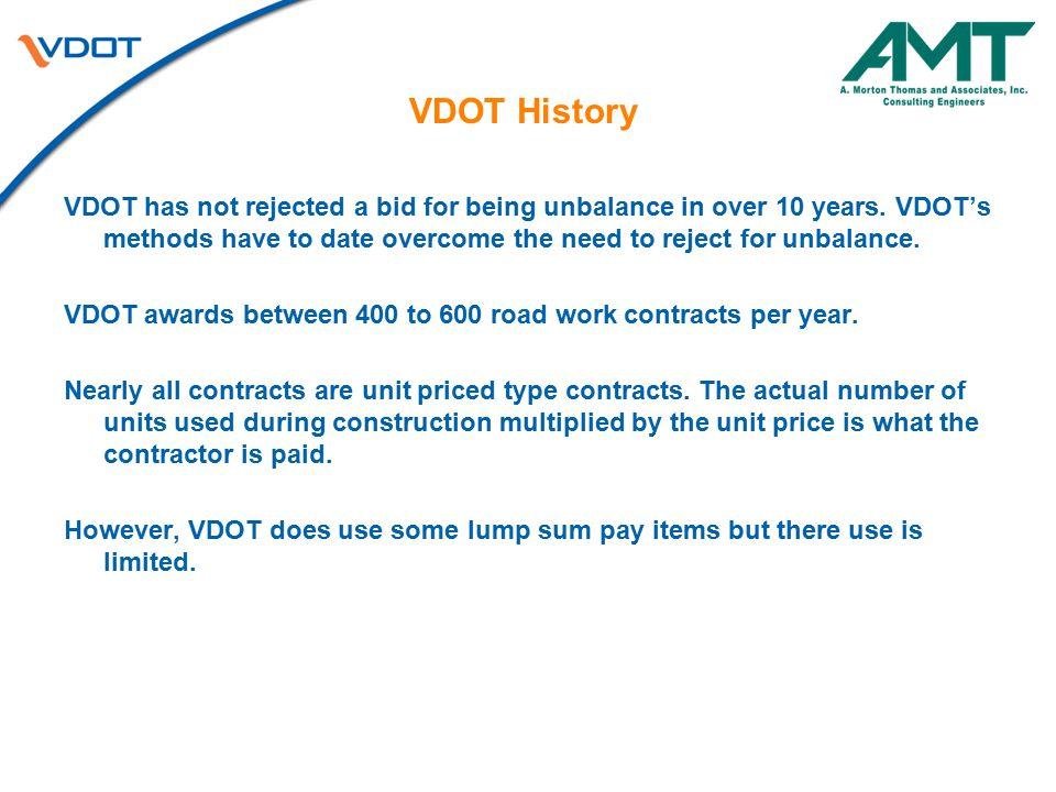 VDOT History