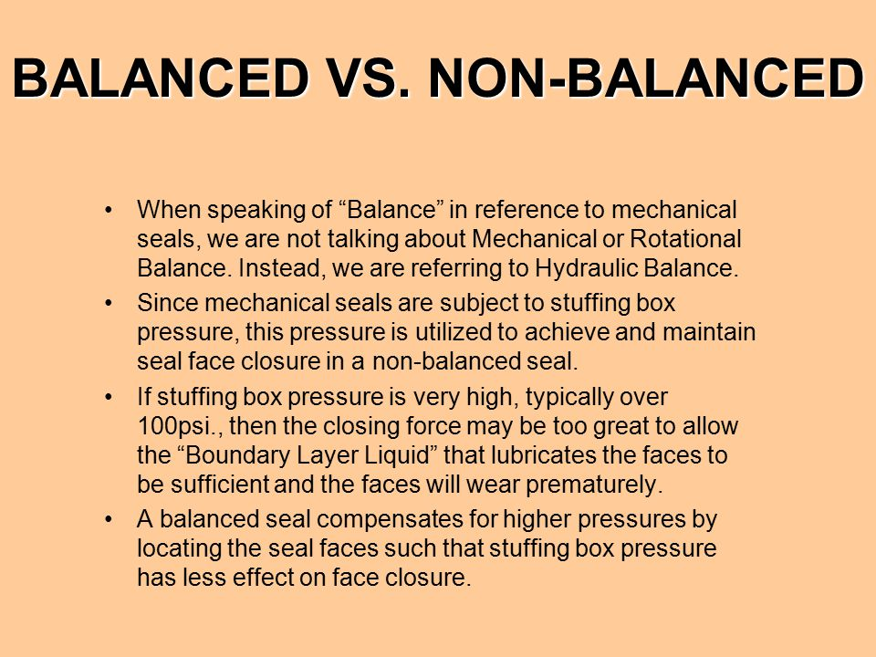 BALANCED VS. NON-BALANCED