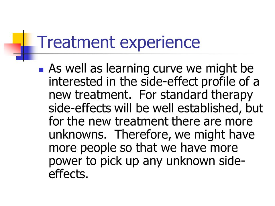 Treatment experience