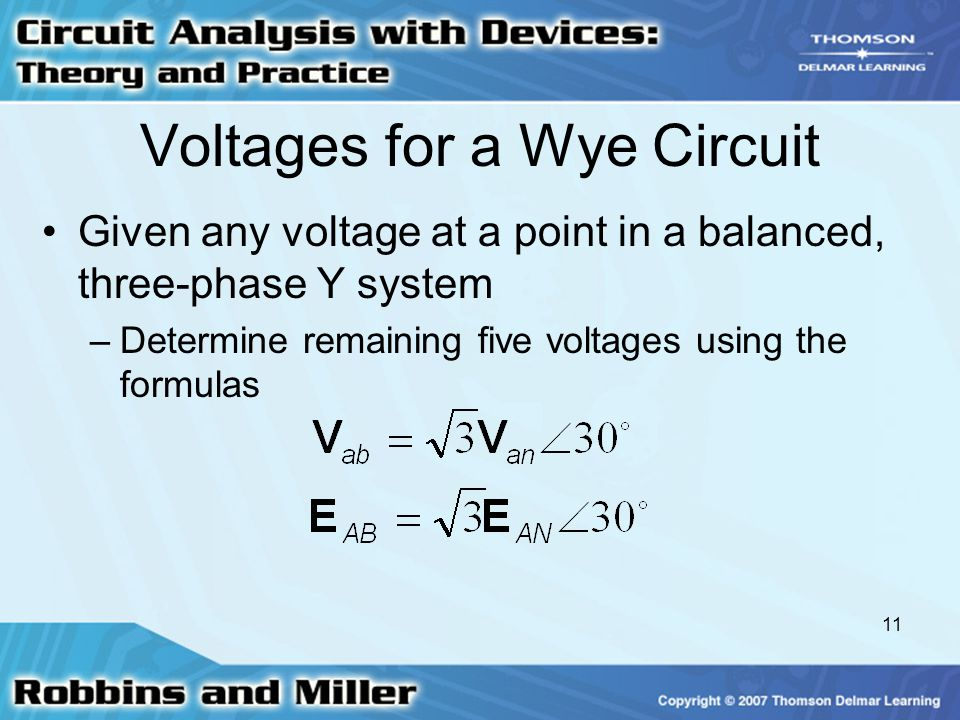 Voltages for a Wye Circuit