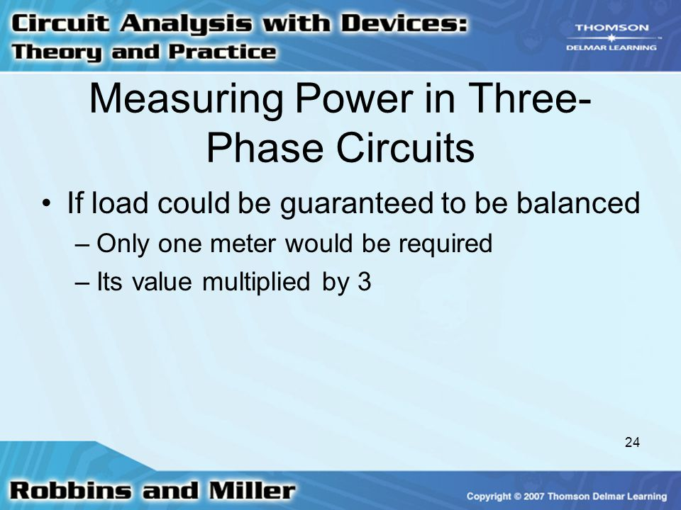Measuring Power in Three-Phase Circuits