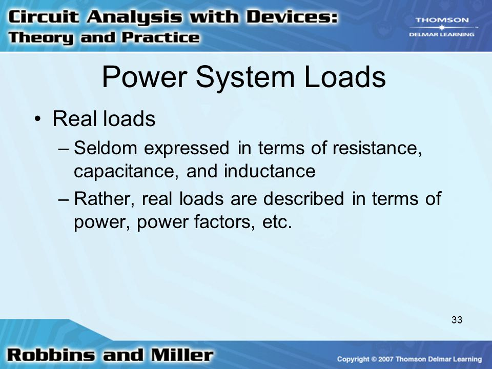 Power System Loads Real loads