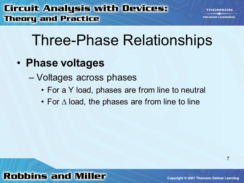 Three-Phase Relationships
