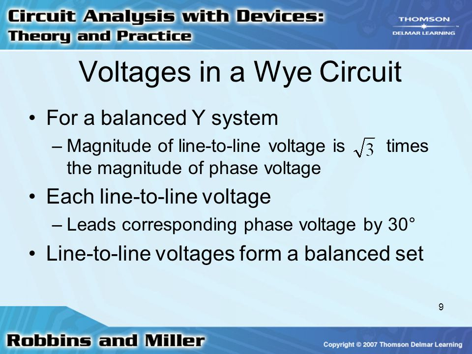 Voltages in a Wye Circuit