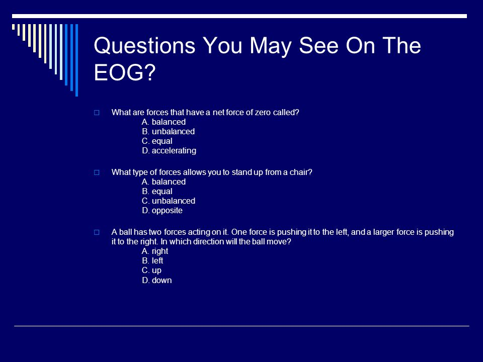 Questions You May See On The EOG