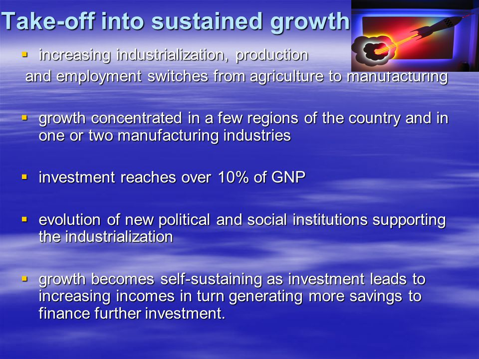Take-off into sustained growth