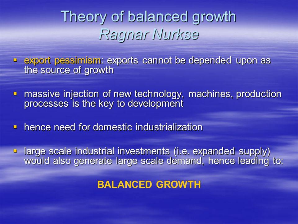 Theory of balanced growth Ragnar Nurkse