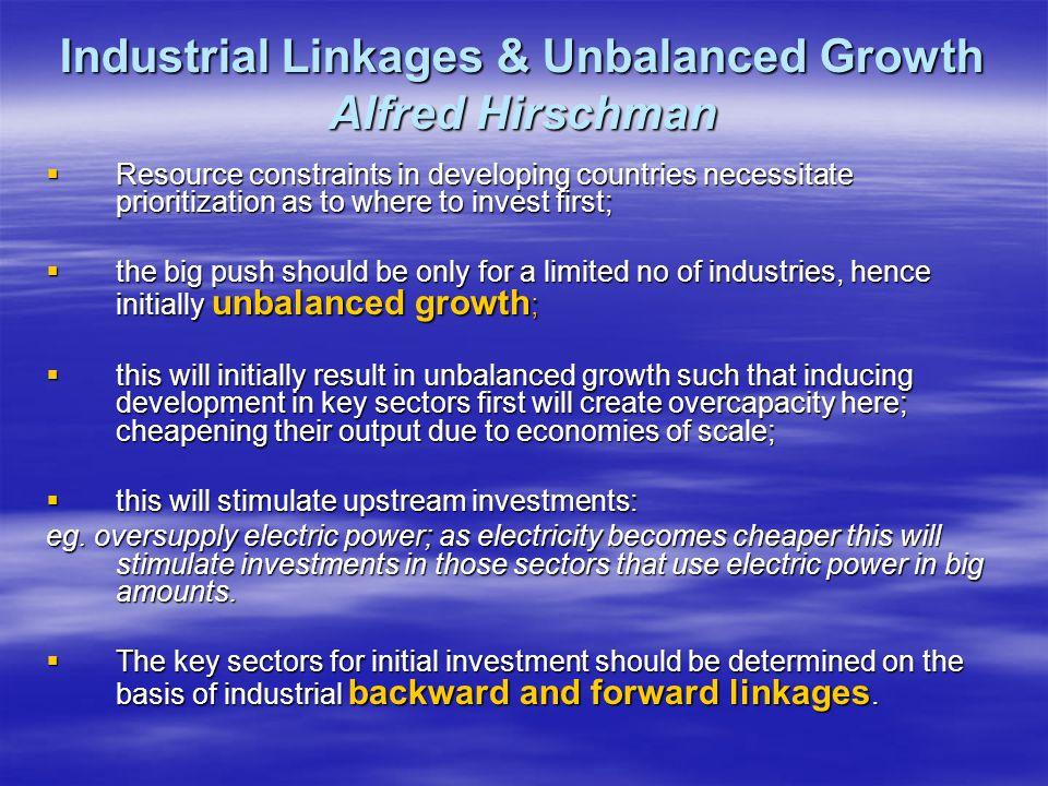 Industrial Linkages & Unbalanced Growth Alfred Hirschman