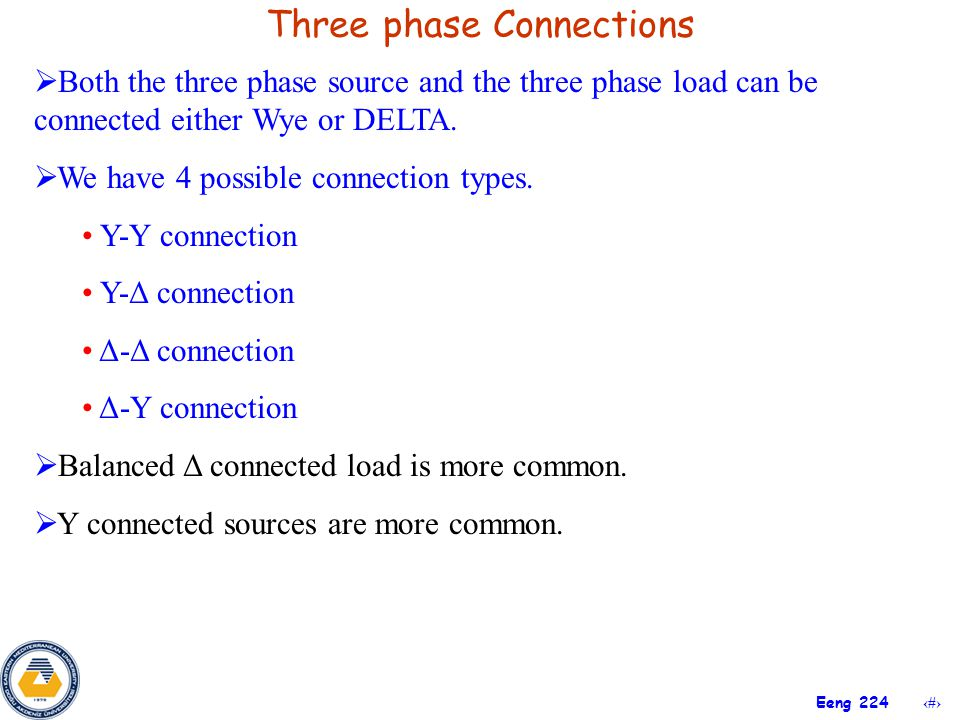 Three phase Connections