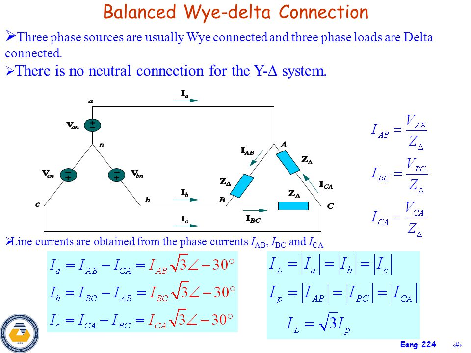 Balanced Wye-delta Connection