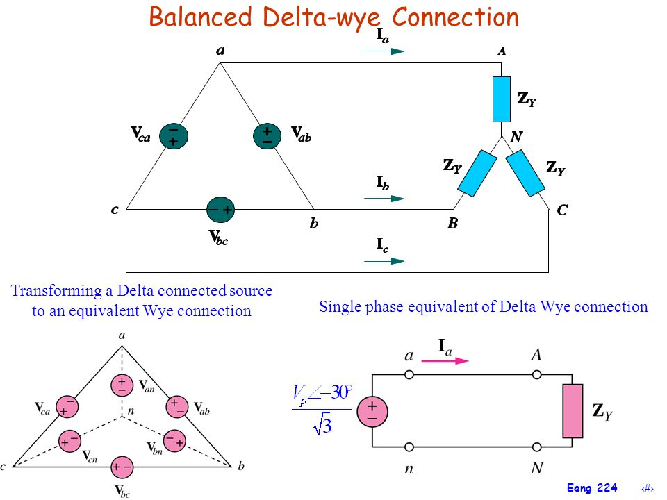 Balanced Delta-wye Connection