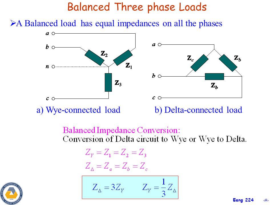 Balanced Three phase Loads