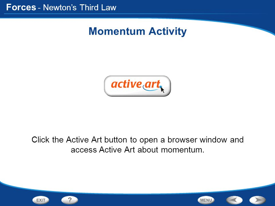 Momentum Activity - Newton's Third Law