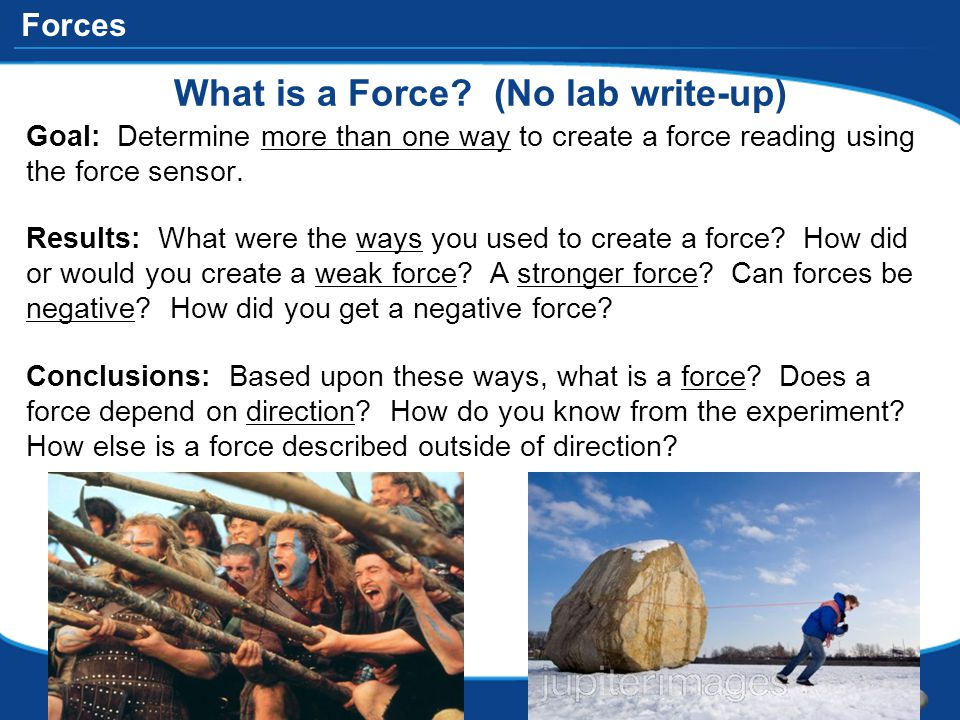 What is a Force (No lab write-up)