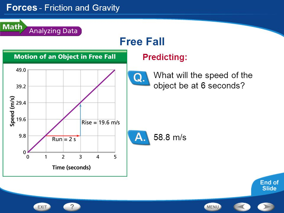 Free Fall - Friction and Gravity Predicting: