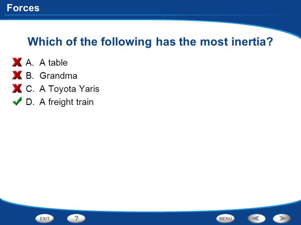 Which of the following has the most inertia