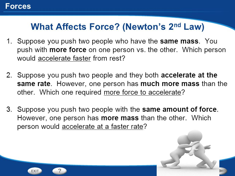 What Affects Force (Newton's 2nd Law)