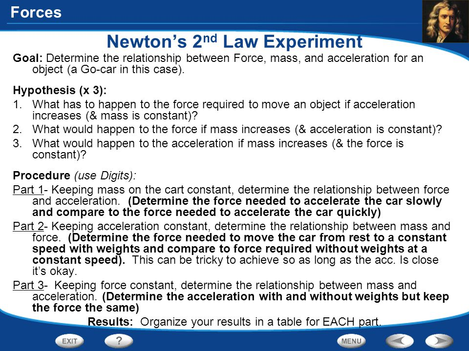 Newton's 2nd Law Experiment