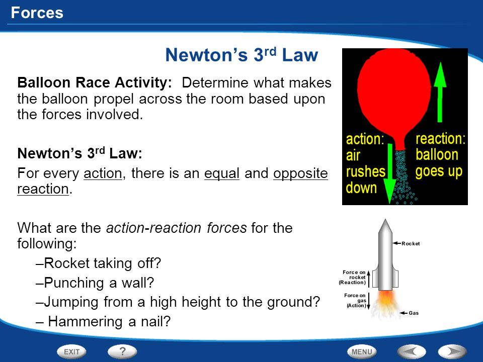 Newton's 3rd Law Balloon Race Activity: Determine what makes the balloon propel across the room based upon the forces involved.
