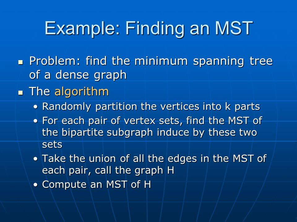 Example: Finding an MST