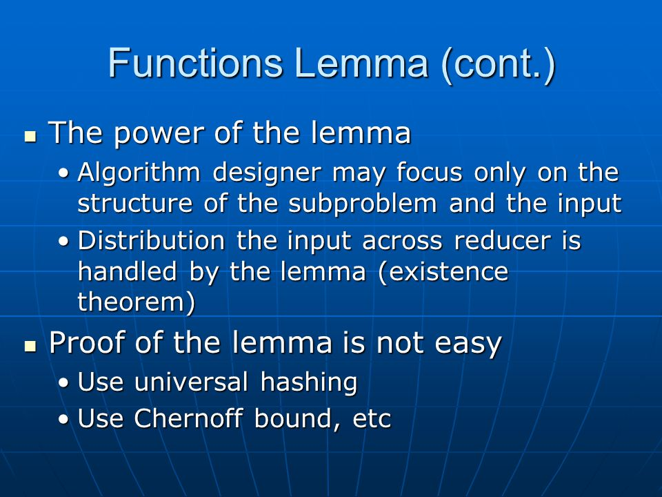 Functions Lemma (cont.)