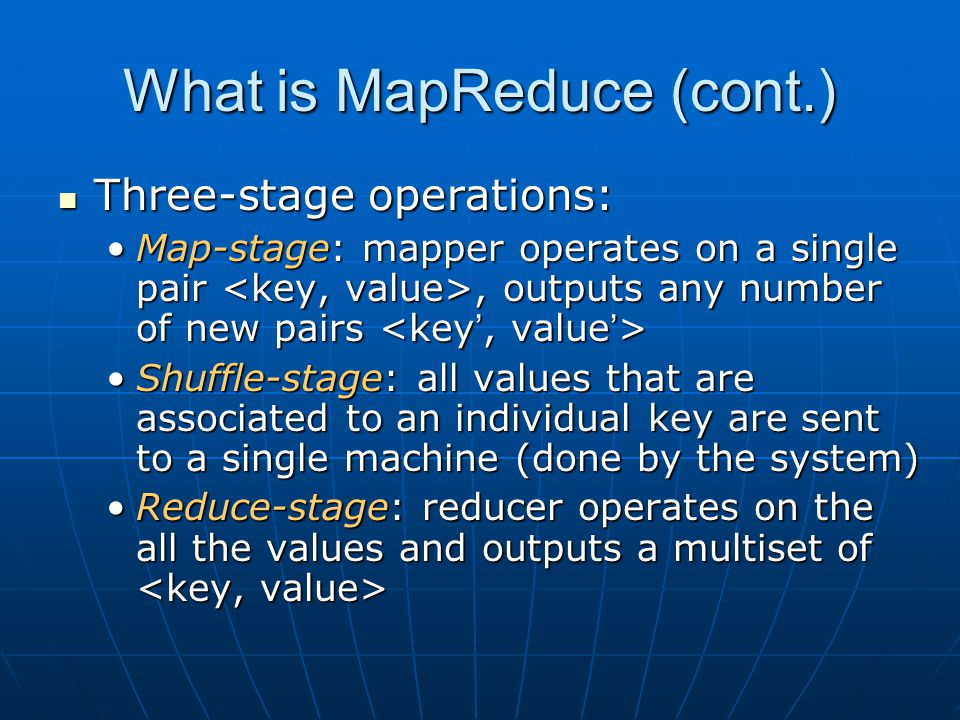 What is MapReduce (cont.)