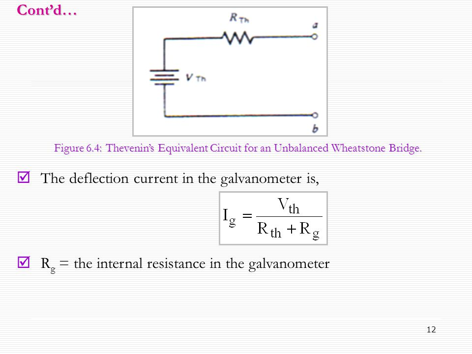 The deflection current in the galvanometer is,