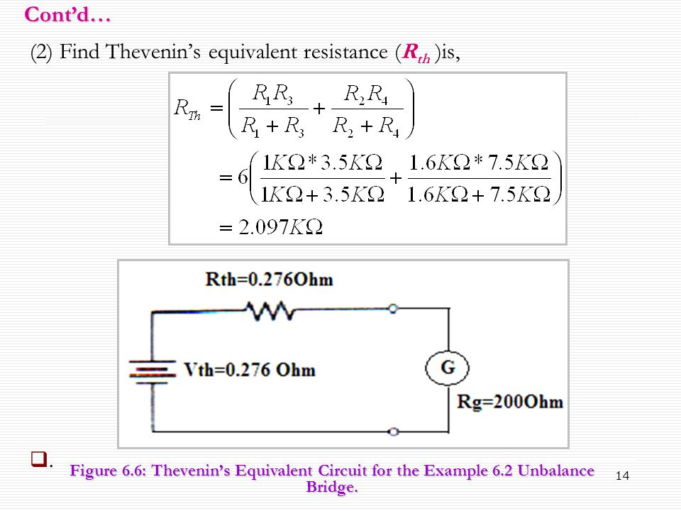 (2) Find Thevenin's equivalent resistance (Rth )is,