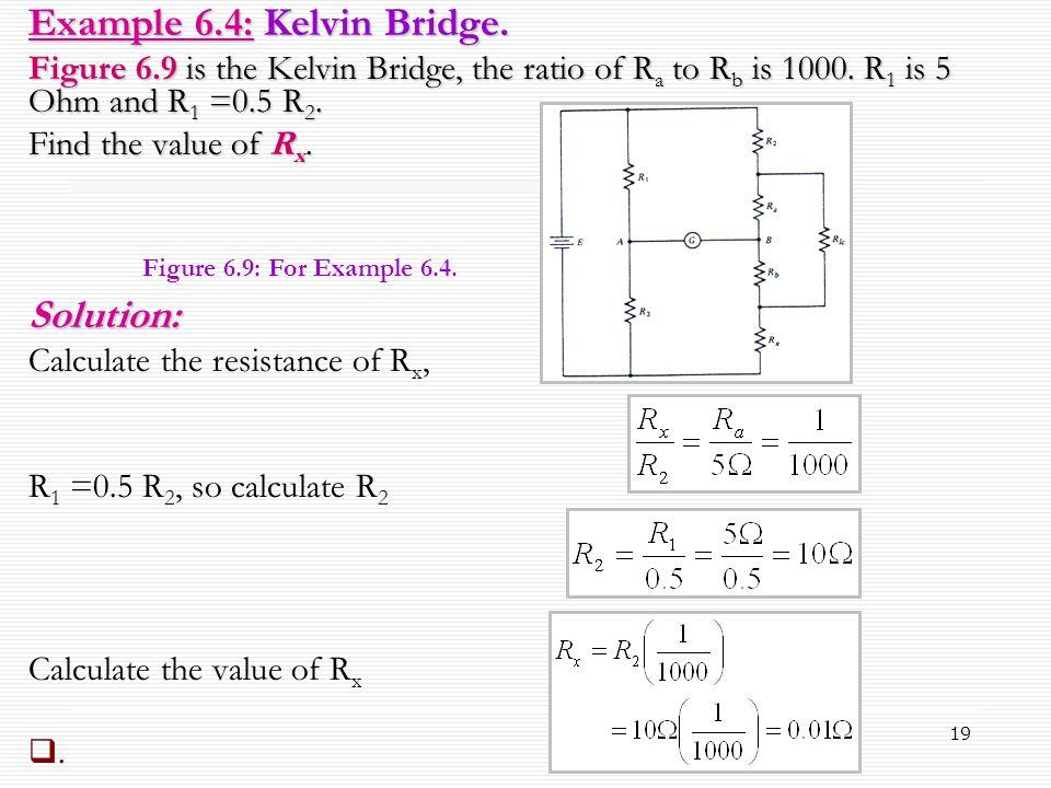 Example 6.4: Kelvin Bridge.