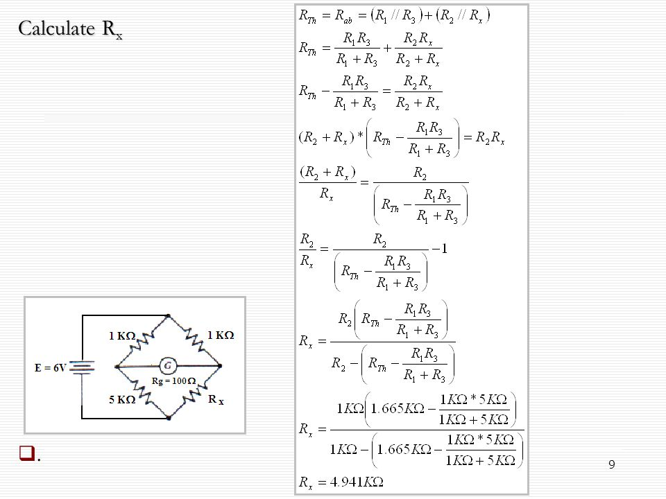 Calculate Rx .