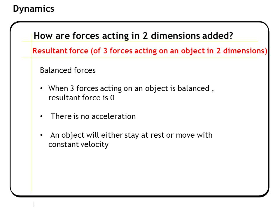 How are forces acting in 2 dimensions added