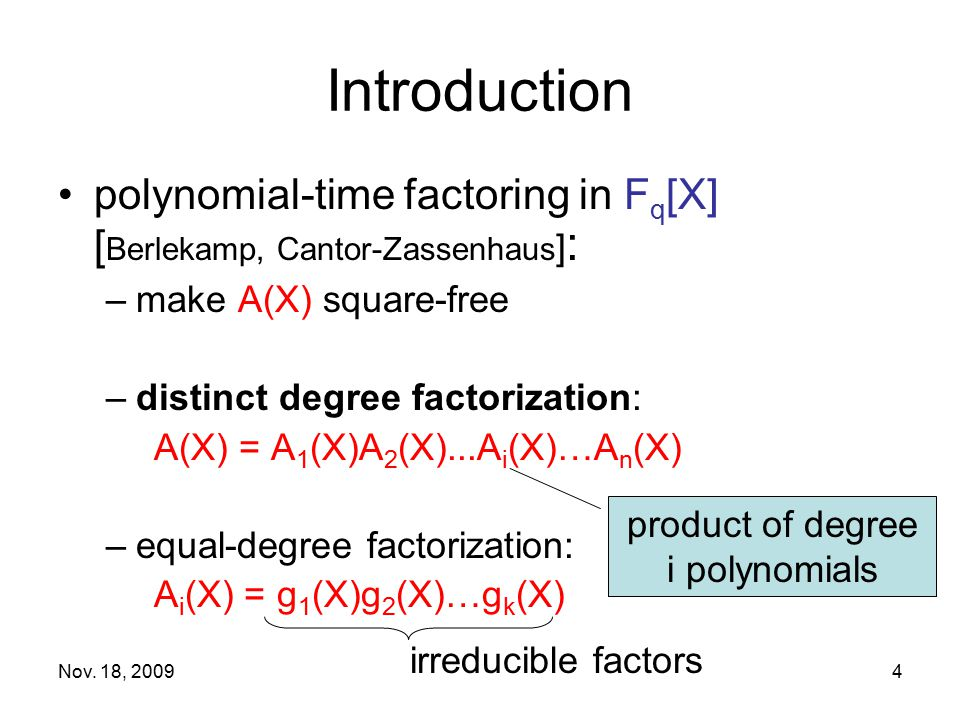 product of degree i polynomials