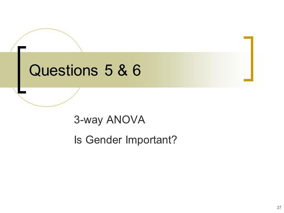3-way ANOVA Is Gender Important