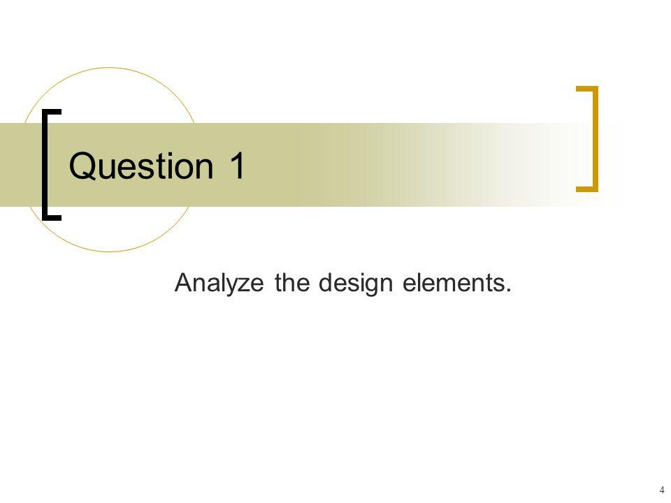 Analyze the design elements.