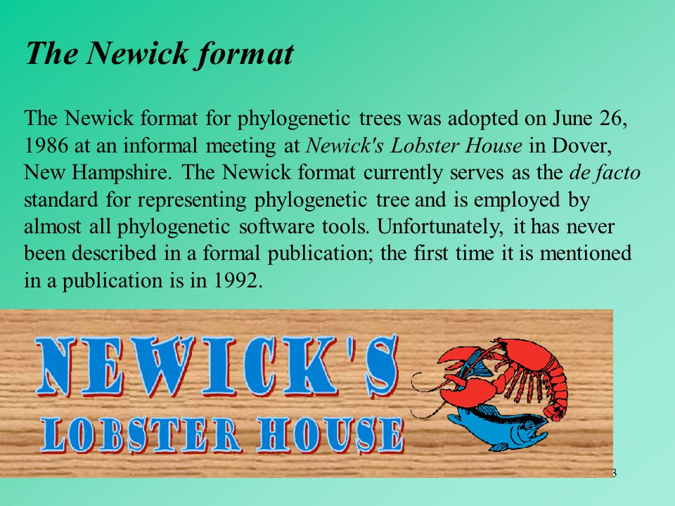 The Newick format